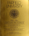 Graduate Programs (Communication, Education and Financial Management) - Course Catalog (1985-1986)