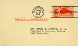 4 cent air mail preprinted postcard