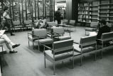 Nyselius Library, Reading Lounge, facing brass grate divider