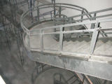 Staircase under construction in the north wing of Bannow Science Center