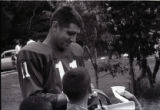 Earl Morrall of the New York Giants with fans #1