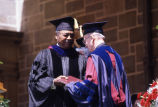 Larry Doby accepting honorary degree