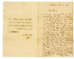 [1849-05-19] Letter from James O'Connor to Miss Isabel Emory and [1847] autograph of John Henry...