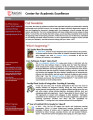 Center for Academic Excellence (CAE) Newsletter - Vol. 01, No. 01 - Fall 2010