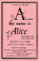 A...my name is Alice: a musical review