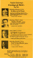 Fairfield University's Evenings of Music - Fall 1973