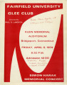 Simon Harak memorial concert - Fairfield University Glee Club