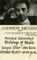 Evenings of music - Andrew Heath - 1976