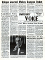 University Voice - Vol. 01, No. 01 - October 01, 1970